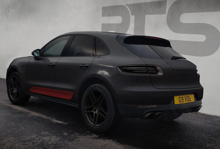 A wrapped Porsche Macan